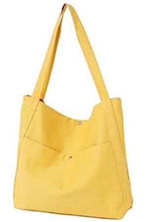 Jeelow Canvas Tote Bag Handtasche Schultertasche Crossbody Taschen Geldbörse für Damen und Herren, (Pepper & Salt Black)