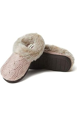 Dearfoams Damen Claire Chunky Knit Clog Slipper