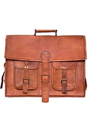 LLB Leather Arts Vintage handgemachte neueste echte Browm Leder Office Laptop und Messenger Bag für Unisex Größe- 15 Zoll 019