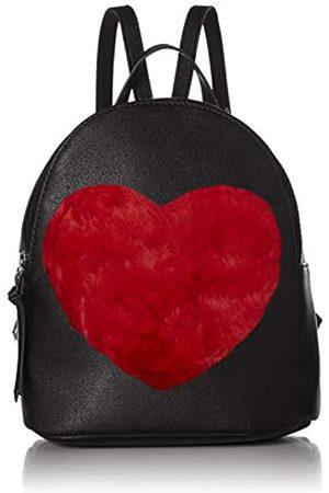 T-Shirt & Jeans Damen Back Pack with Faux fur Heart Rucksack mit Herz aus Kunstfell