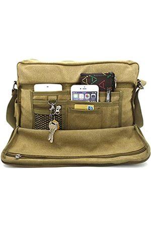 MiCoolker Laptop-Kuriertasche, multifunktional, aus Segeltuch, für 15-Zoll-Laptop