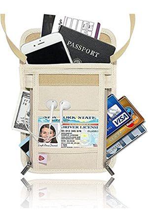 AIKELIDA Reisepass-Hals-Brieftasche – RFID-blockierende, versteckte Sicherheits-Reise-Brieftasche, Organizer für Frauen und Männer