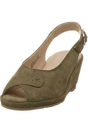 Deer Stags Damen Wendy Slingback Peep Toe Wedge, Grün (olivgrün)