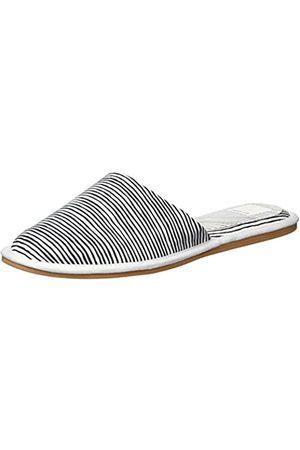 Dolce Vita Women's HAI Mule, White Stripe Fabric