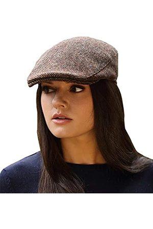 Hanna Hats Donegal Touring Cap Tweed Mütze (Braunes Fischgrätenmuster