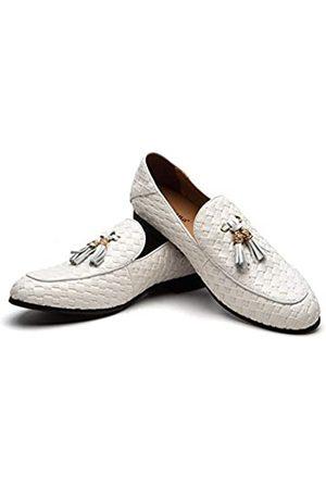 MEIJIANA 2019 Neue Herren Atmungsaktive Flats Herren Schuhe Bequeme Herren Schuhe Casual Loafers Leder Herren, Weiá (White/01)