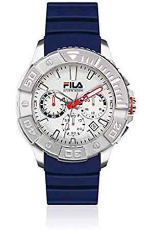 Fila Unisex Erwachsene Analog Quarz Uhr mit Silikon Armband 38-040-001