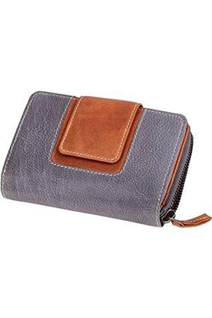 Mika 42182 - Damengeldbörse aus Echt Leder, Portemonnaie im Hochformat, Geldbeutel mit 13 Kartenfächer, 5 Einschubfächer, 2 Scheinfächer und Münzfächer, Brieftasche /