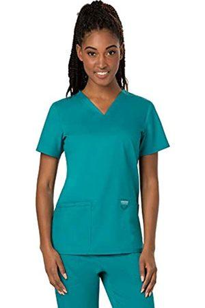 Cherokee Damen Tops & T-Shirts - Damen Top V-Neck - Blau - X-Groß