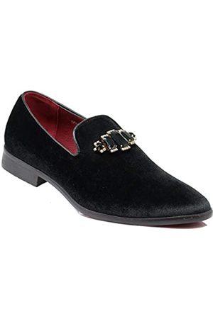 Enzo Romeo SPK32 Herren Vintage Einfarbig Strass Samt Kleid Loafers Slip On Schuhe Klassische Smoking Kleid Schuhe ( /)