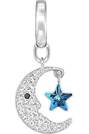 Swarovski Damen-Charm Moon rhodiniert Kristall-5142795