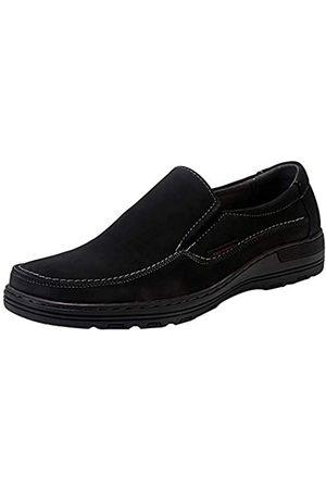 ELANROMAN Herren Loafers Leder Relaxed Fit Memory Foam Superior Gains Slip-on Mokassins Schuhe, (Nubuk )