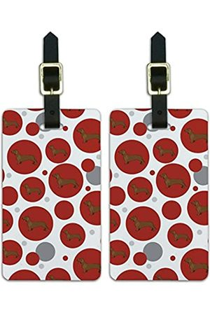 Graphics and More Graphics & More Kofferanhänger mit Dackel Wiener Hund (Weiß) - Luggage.Tags.09978