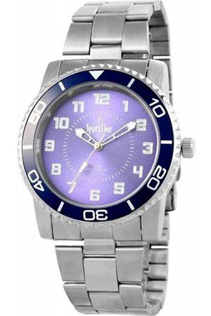 Sportline Herren Analog Quarz Uhr mit Verschiedene Materialien Armband 284323000010