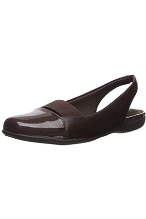 FrenchTrotters Women's Sarina Ballet Flat, Dark Brown/patent