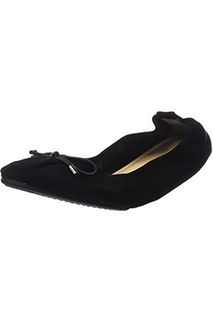 Yosi Samra Damen Sheila Flat W Geschlossene Ballerinas, (Black)
