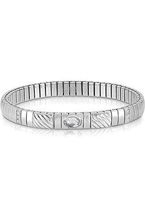 Nomination Damen-Armband Edelstahl Zirkonia weiß 21 cm - 043332/010