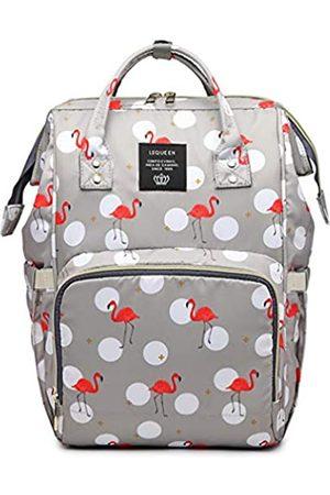 QIXINGHU Flamingo Multifunktions-Wickeltasche für Baby-Pflege, Reiserucksack, weit offen, Wickeltaschen, Handtaschen