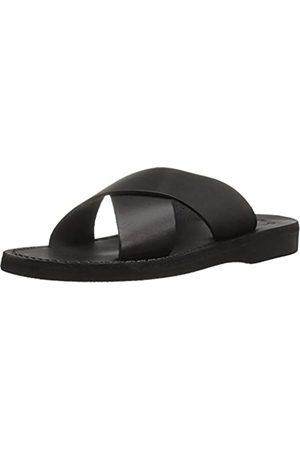 Jerusalem Sandals Women's Elan Rubber Slide Sandal, Black