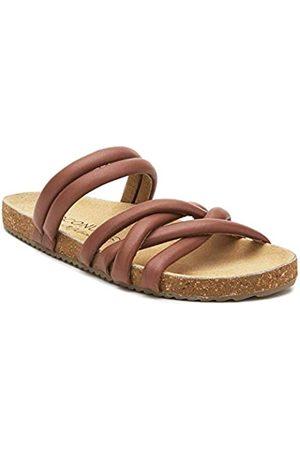 Matisse Footwear Zurie Slide Sandale, Tan, Obermaterial Leder, Wildlederfutter, gepolstertes Fußbett, Slip-On Style, mittlere Breite, Hellbraun, Beige (hautfarben)