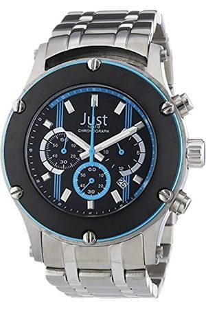 Just Watches Herren-Armbanduhr XL Analog Quarz Edelstahl 48-STG2372BL