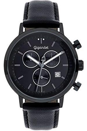 Gigandet Classico Herren-Armbanduhr Chronograph Quarz Analog Lederarmband G6-007