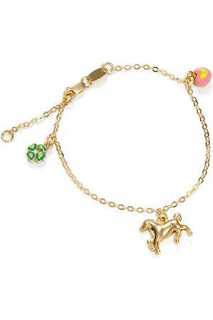 Scout Kinder-ArmbandGelbgold-/3338kt.16cmplus2cmVerlängerung3Anhänger-KleeblattPferdHerz-handemailliert210005333