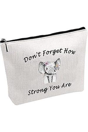 "POFULL Elefanten-Kosmetiktasche mit Aufschrift ""Don't Forget How Strong You Are"""