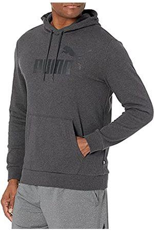 PUMA Herren Essentials Big Logo Hoodie Kapuzenpulli, Dunkelgrau-Dark Grey Heather