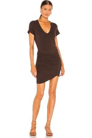 MONROW Supersoft Front Wrap Dress in . Size XS, S, M.