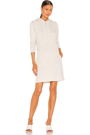 MONROW Double Layer Hoodie Dress in . Size XS, S, M.