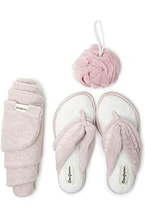 Dearfoams Women's Terry Spa-Inspired Mother's Day Gift Bundle with Kylie Thong Slipper