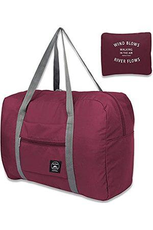 Unova Faltbare Reisetasche, verstaubar, leicht, Nylon, wasserabweisend, Tragetasche für Wochenendausflug über Nacht, Handgepäck, Schultertasche