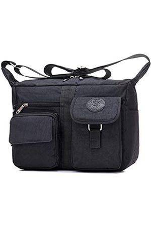 Fabuxry Damen schultertasche beiläufige handtasche reisetasche messenger cross body nylon taschen Medium