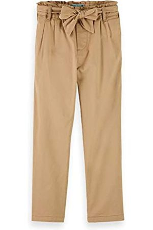 Scotch&Soda R´Belle Girls Relaxed Slim fit Paper-Bag Waisted Pants with Bow Detail Jeans