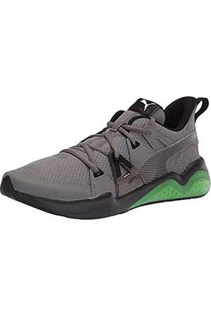 PUMA Men's Cell Fraction Running Shoe, Castlerock-Elektro Green Black