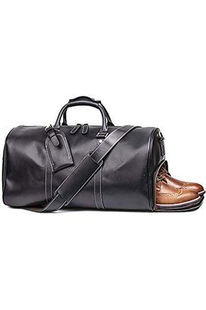 LEATHFOCUS Leder-Reisegepäcktasche für Herren, Retro-Stil