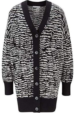 HUGO BOSS Damen C Fanaka Langer Cardigan mit Zebra-Muster