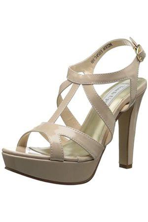 Touch Ups Queenie Damen-Sandalen mit Plateausohle, (Hautfarben - Nude Patent)