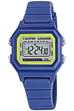 Calypso Unisex Digital Gesteppte Daunenjacke Uhr mit Kunststoff Armband K5802/5