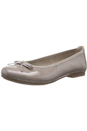 Soft Line Damen 22163 Geschlossene Ballerinas, (Taupe Patent 343)