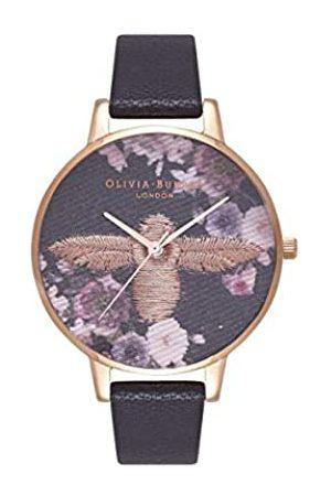 Olivia Burton Damen Uhren - Damen Analog Quarz Uhr mit Leder Armband OB16EM02