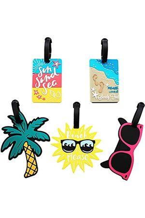 Mziart Süße Gepäckanhänger für Damen Herren Sommer Strand Bag Tags Einzigartige Reisegepäck Gepäckanhänger Koffer-Identifikationsetiketten 5er Set