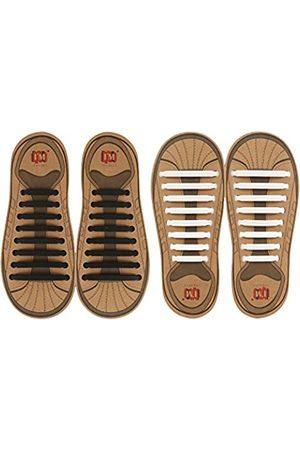 Inmaker Keine Bindung Shoelaces für Kinder und Erwachsene, 2-Pack Elastic Turnschuhe Schnürsenkel 16pcs für Erwachsene Plus (9
