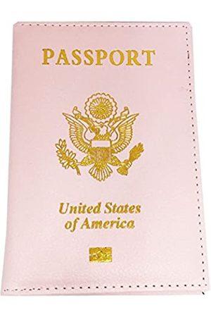Pakala66 Reisepasshülle aus PU-Leder mit silbernem USA-Logo