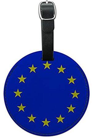 Graphics and More Reisetaschen - Gepäckanhänger aus Leder mit europäischer Nationalflagge der Europäischen Union