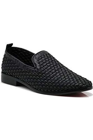 Enzo Romeo SPK03 Herren Vintage Einfarbig Samt Kleid Loafers Slip On Schuhe Klassische Smoking Kleid Schuhe, ( (Scoland 03))