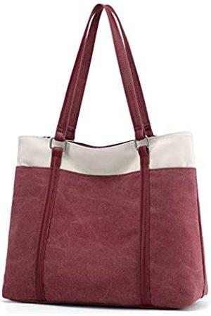 goldwheat Canvas Tote Bags Damen Schultertasche Handtasche für Arbeit Schule Reisen Shopping Strand Pack