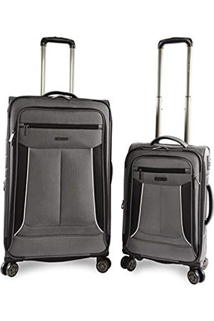 Perry Ellis Luggage Viceroy 2 Piece Set Expandable Suitcase with Spinner Wheels, Charcoal