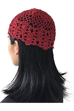 MARZE Strickmütze für Damen und Mädchen, Winter, Sommer, 100 % handgefertigt, florales Muster